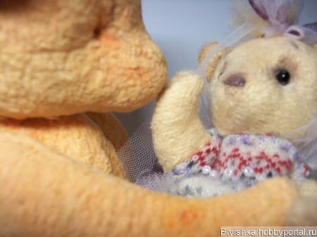 Мишка-тедди малютка 14 см. ручной работы на заказ