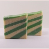 Зеленый клевер и алоэ. Натуральное мыло с шёлком