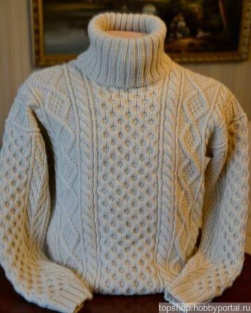 Вязаный свитер толстой вязкой ручной работы на заказ