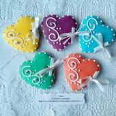 Печенье СЕРДЕЧКИ, свадьба, юбилей, день рождения.