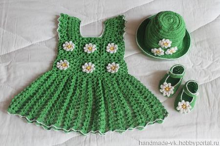 Платье для малышки от 6 мес. до 1 года ручной работы на заказ