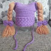 Шапочка с косами
