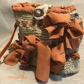 Джутовая сумочка маргаритка