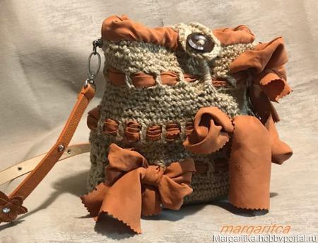 Джутовая сумочка маргаритка ручной работы на заказ