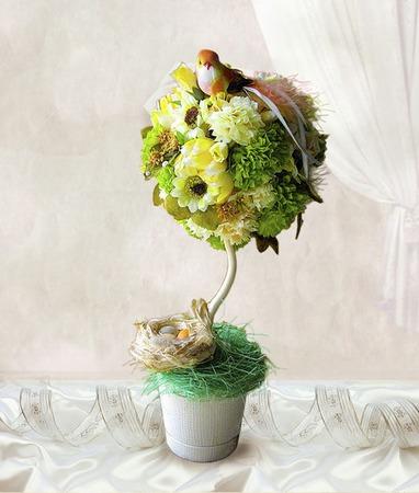 """Топиарий """"Птица Счастья"""" для вашего дома ручной работы на заказ"""