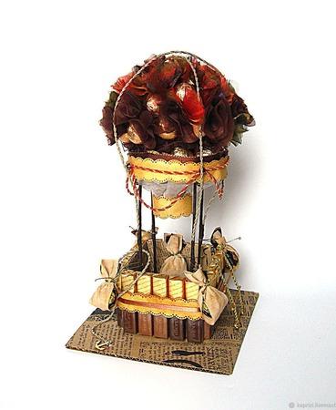 Воздушный шар из конфет ручной работы на заказ