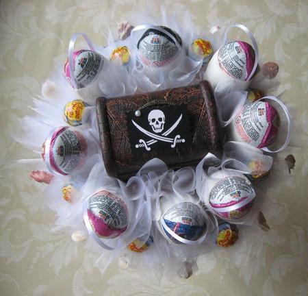 Букет для пиратской вечеринки ручной работы на заказ