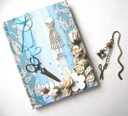 """Блокнот и закладка """"Подарок для рукодельницы"""" ручной работы на заказ"""