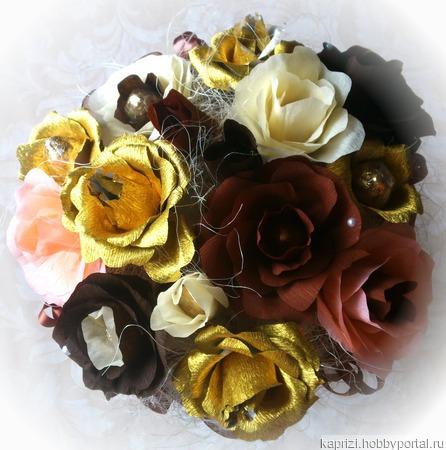"""Букет из конфет """"Шоколадная фантазия"""" ручной работы на заказ"""