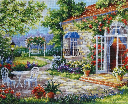 Картина Дом Мечты 30х38.5 вышита ручной работы на заказ