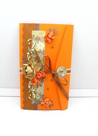 Подарочная упаковка Оранжевое настроение ручной работы на заказ