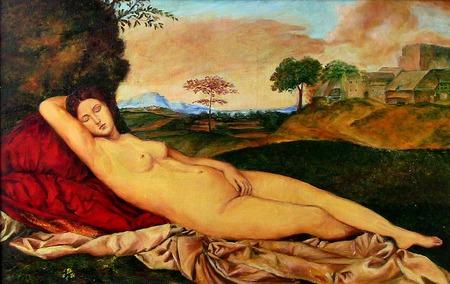 Картина Спящая Венера, масло ручной работы на заказ