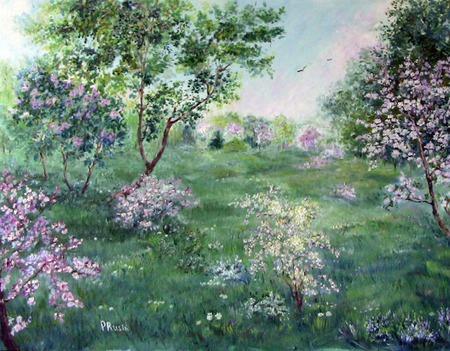 """Картина """"Весна"""" ручной работы на заказ"""