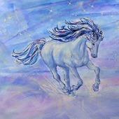 """Рисунок лошади  """"Шальной  ветер"""" ручная работа"""