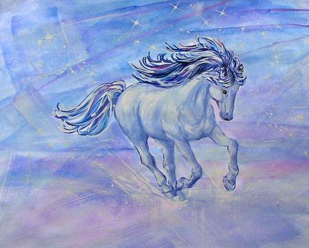 """Рисунок лошади  """"Шальной  ветер"""" ручная работа ручной работы на заказ"""