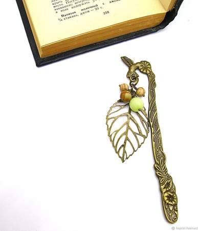 Закладка Таинственный сад ручной работы на заказ