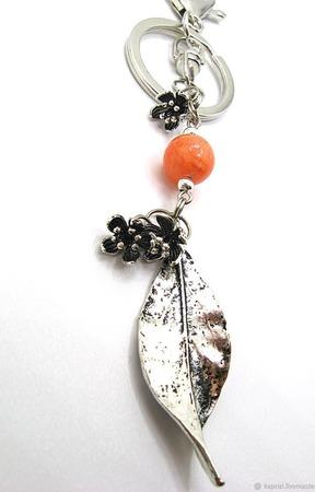 Брелок Нежный апельсин ручной работы на заказ