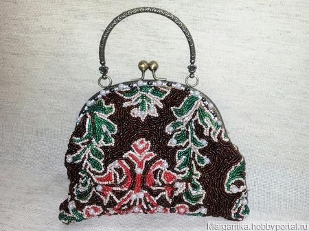 Маленькая сумочка на фермуаре ручной работы на заказ