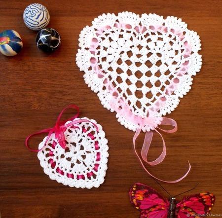 Маленькие салфеточки-Валентинки ручной работы на заказ