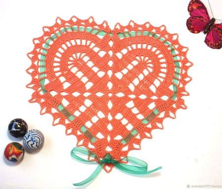 Салфетка-Валентинка ручной работы на заказ