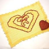 Салфетка-Валентинка с сердечком
