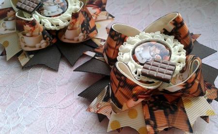 """Американские бантики """"Шоколад"""" ручной работы на заказ"""