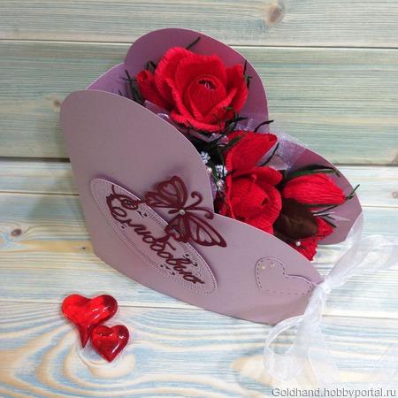 """Валентинка """"Сладкое сердце"""" ручной работы на заказ"""