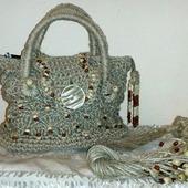 Джутовая пара сумка с украшением