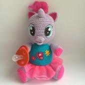 Схема и описание Лили-Мой маленький пони (вязание крючком)