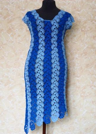 Платье Василек ручной работы на заказ
