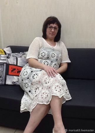 Платье из мотивов ручной работы на заказ