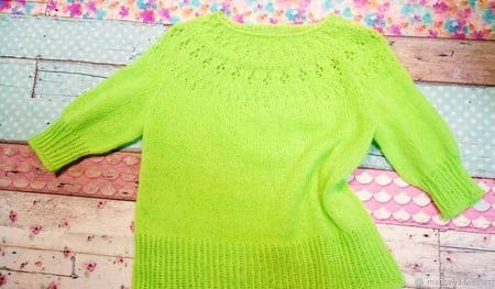 Пуловер из ангоры ручной работы на заказ