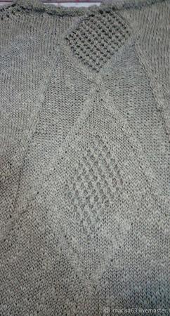 Платье спицами с удлиненной спинкой ручной работы на заказ
