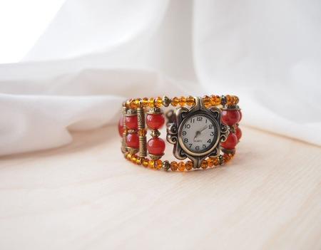 """""""Курага"""" Часы наручные, женские ручной работы на заказ"""