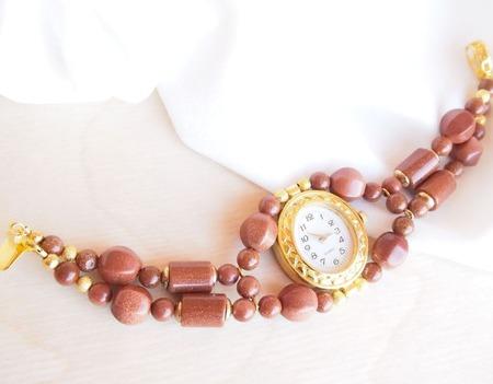 """""""Золотые пески"""" часы наручные, женские ручной работы на заказ"""