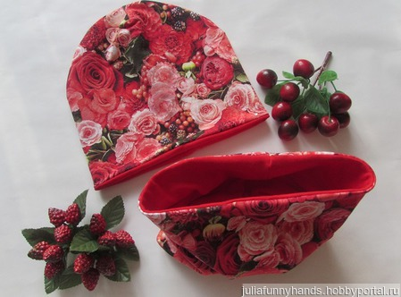 Комплект шапочка+снуд Цветы ручной работы на заказ