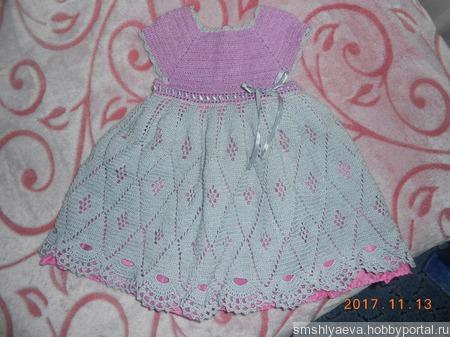 """Платье """"Колокольчик"""" ручной работы на заказ"""