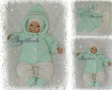 Комплект для новорожденных 3 в 1 ручной работы на заказ