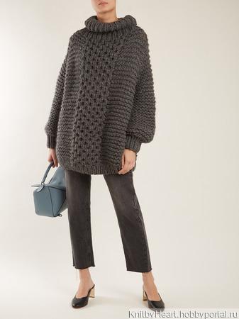 Вязаный свитер крупной вязки ручной работы в Москве ручной работы на заказ