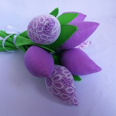 Тюльпаны в стиле тильда