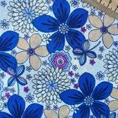 Батист в синий цветочек