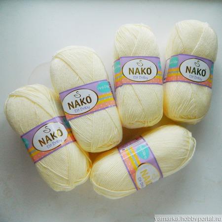 Nako Elit Baby, цвет 2378, ваниль ручной работы на заказ