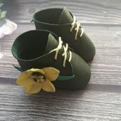 Ботиночки для кукол из натуральной кожи
