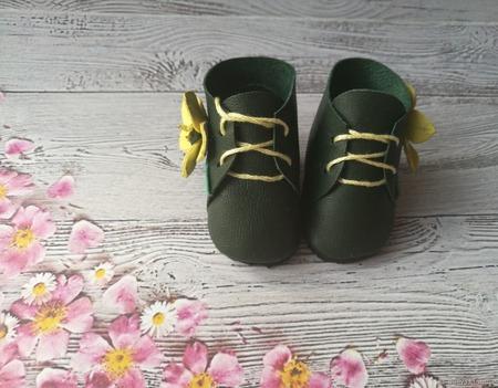 Ботиночки для кукол из натуральной кожи ручной работы на заказ