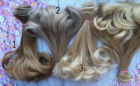 Волосы для кукол ручной работы на заказ