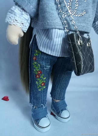 "Интерьерная кукла ""Модница"" ручной работы на заказ"