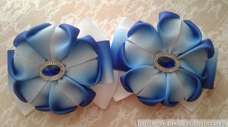 Бантики-цветочки ручной работы на заказ