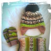 Комплект зимний шапка и снуд
