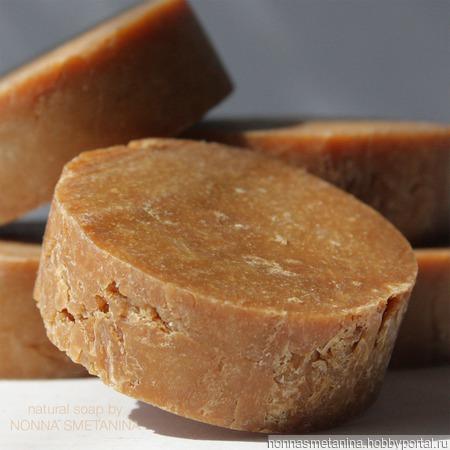 Шампуневое мыло натуральное с ромашкой для сухих и ослабленных волос ручной работы на заказ