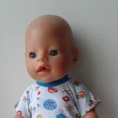 Футболка и шорты для пупса беби борн (baby born) мальчика
